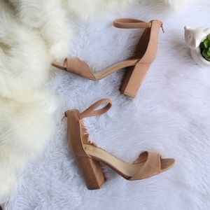 Lulu's Ankle Strap Block Heel Sandals